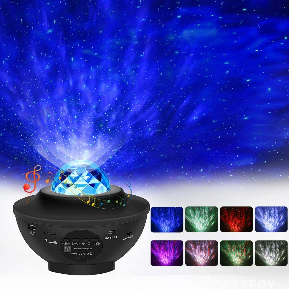 Music night light projector lamp Automatic Customize Timer and Remote Control