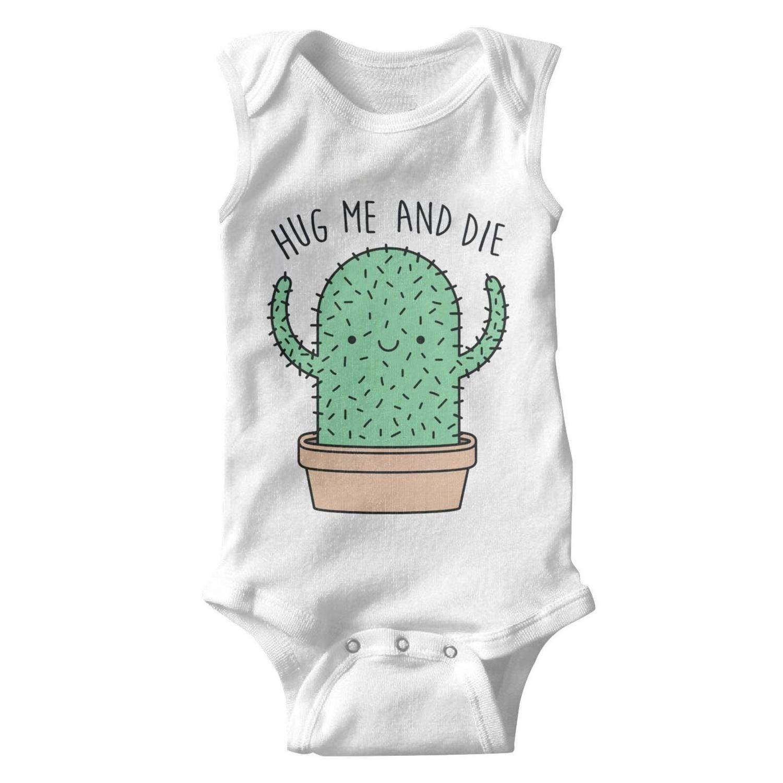 Unisex Tank Top Cactus Hug Me and Die Baby Onesies Bodysuit Jumpsuit Waistcoat Godfer Arabe