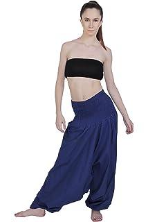 Kiara Men Women Cotton Baggy Boho Aladdin Soft Yoga Sports Dance Harem Pants