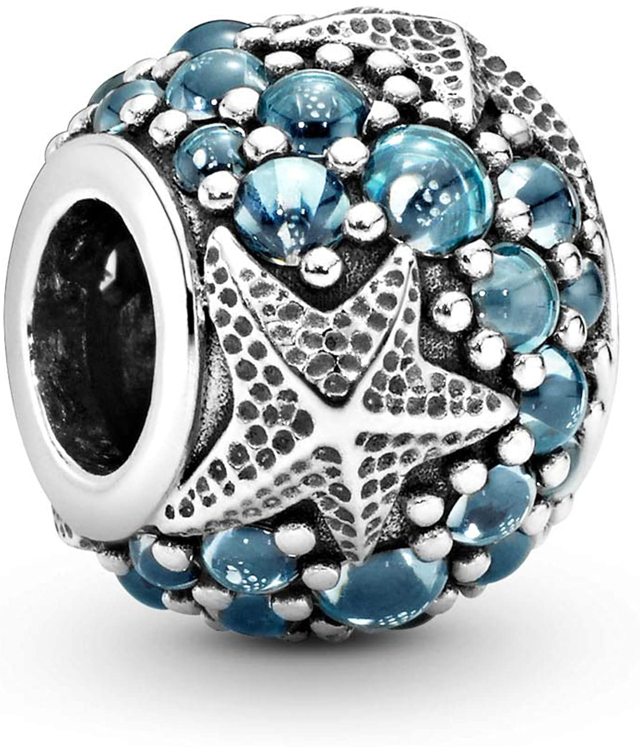 Pandora Jewelry Pave Ocean and Starfish Cubic Zirconia Charm in Sterling  Silver