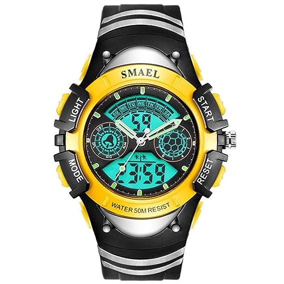 Beydodo Reloj Despertador Reloj Deportivo Relojes Electronicos Relojes LED Reloj Hombre Luminoso Relojes Niños Reloj de Doble Pantalla Reloj Impermeable ...