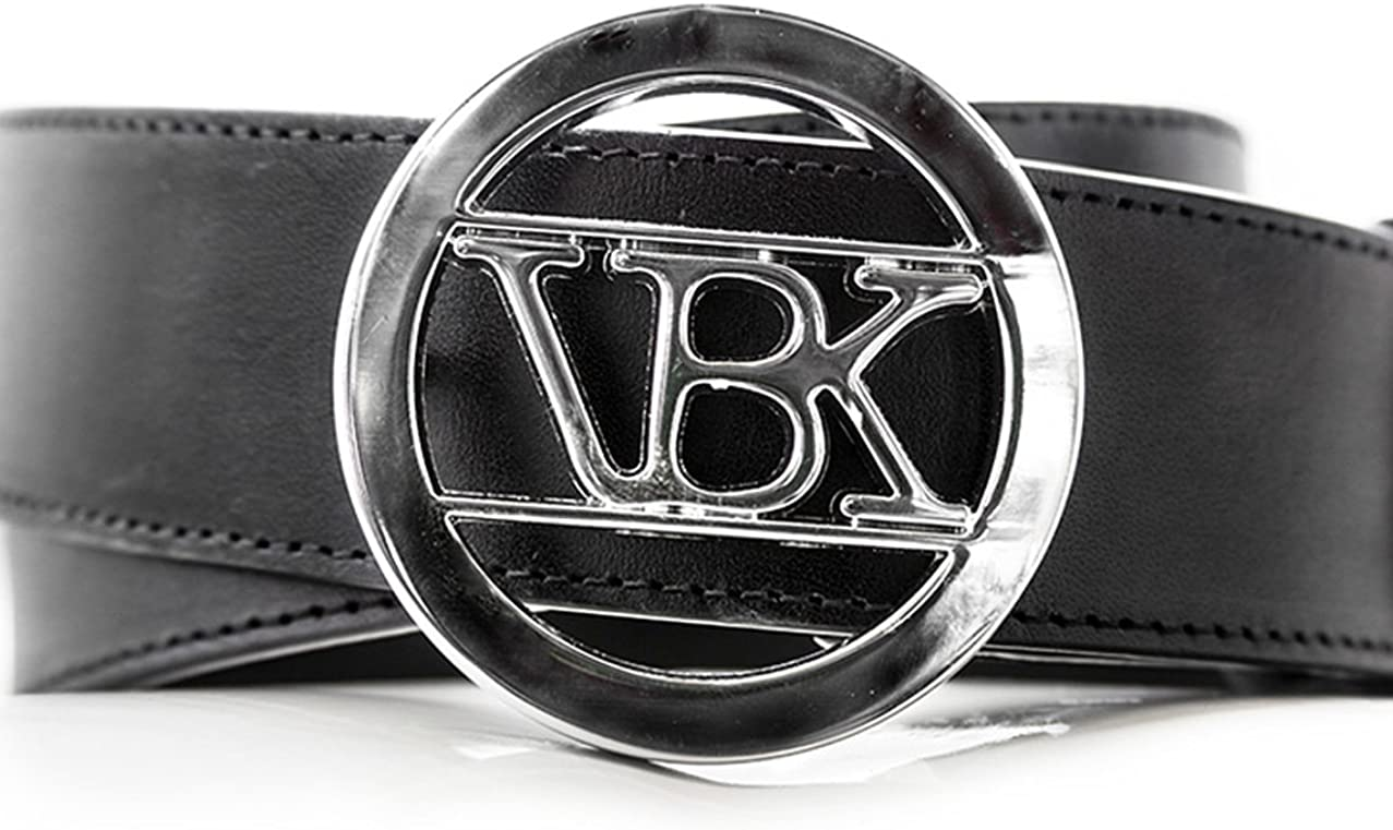 VBK Black Leather Belt