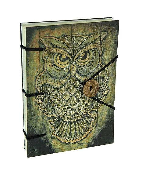 Fantasy Gifts - Diario de Tatuaje, diseño de búho, Tapa Dura ...