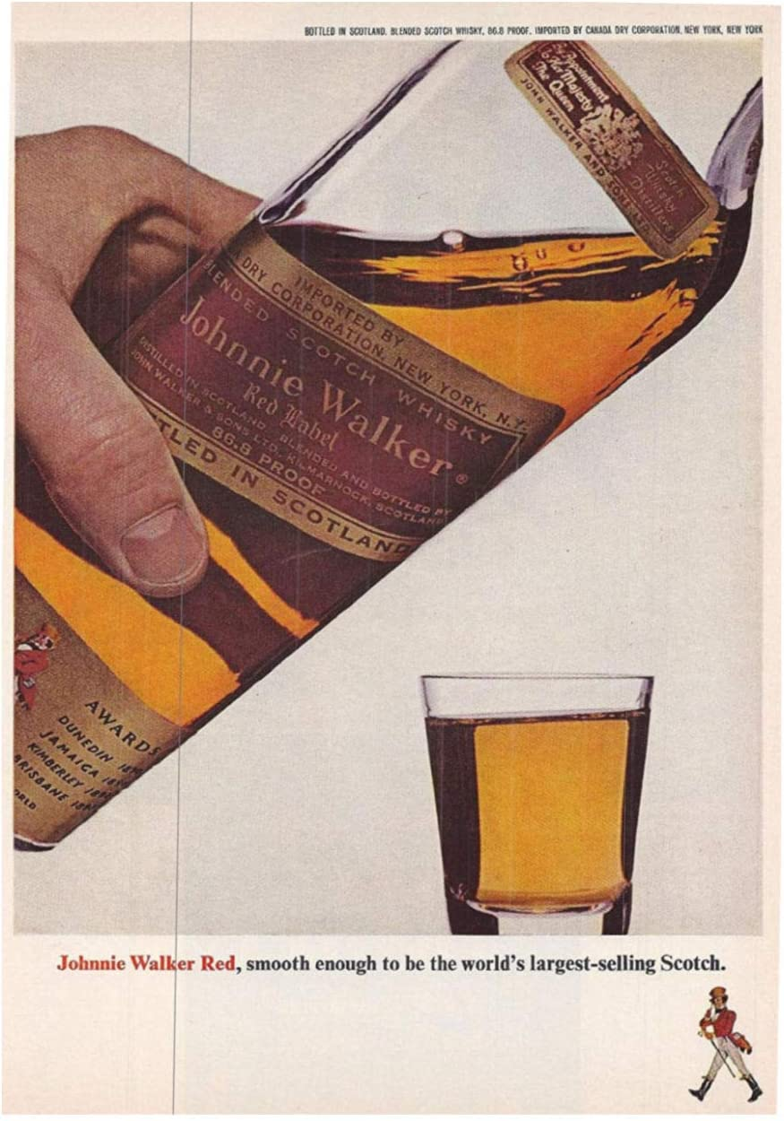 Canadian Club Poster vintage Alcohol advertising Wall art Reproduction.