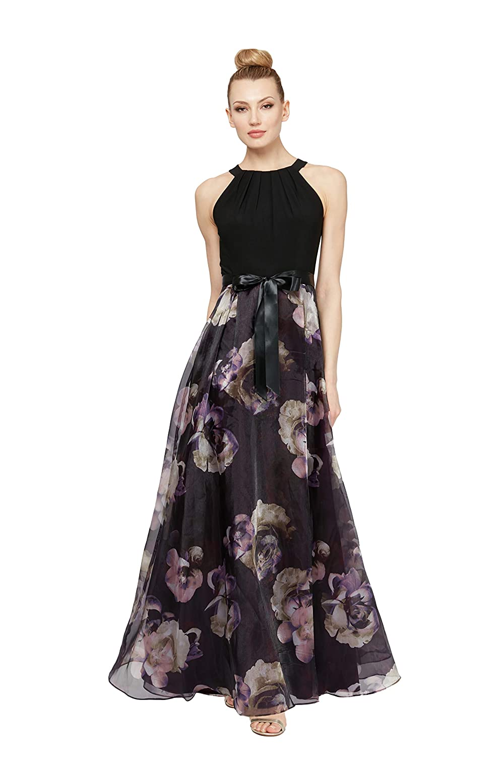 Vintage Evening Dresses and Formal Evening Gowns S.L. Fashions Womens Sleeveless Printed Maxi Dress $149.00 AT vintagedancer.com