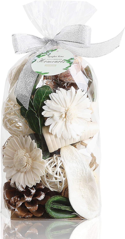 Qingbei Rina Jasmine Scent Potpourris Bag(107 cu in) Naturel White Home Decor Fragrance