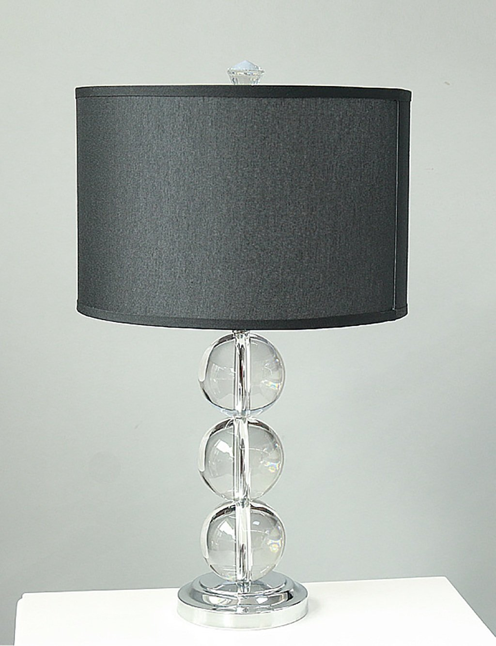 Einfache moderne Nachttischlampe Kristalllampe Einfache Stoff Schlafzimmer Lampe Hotelzimmer Studie Tischlampe