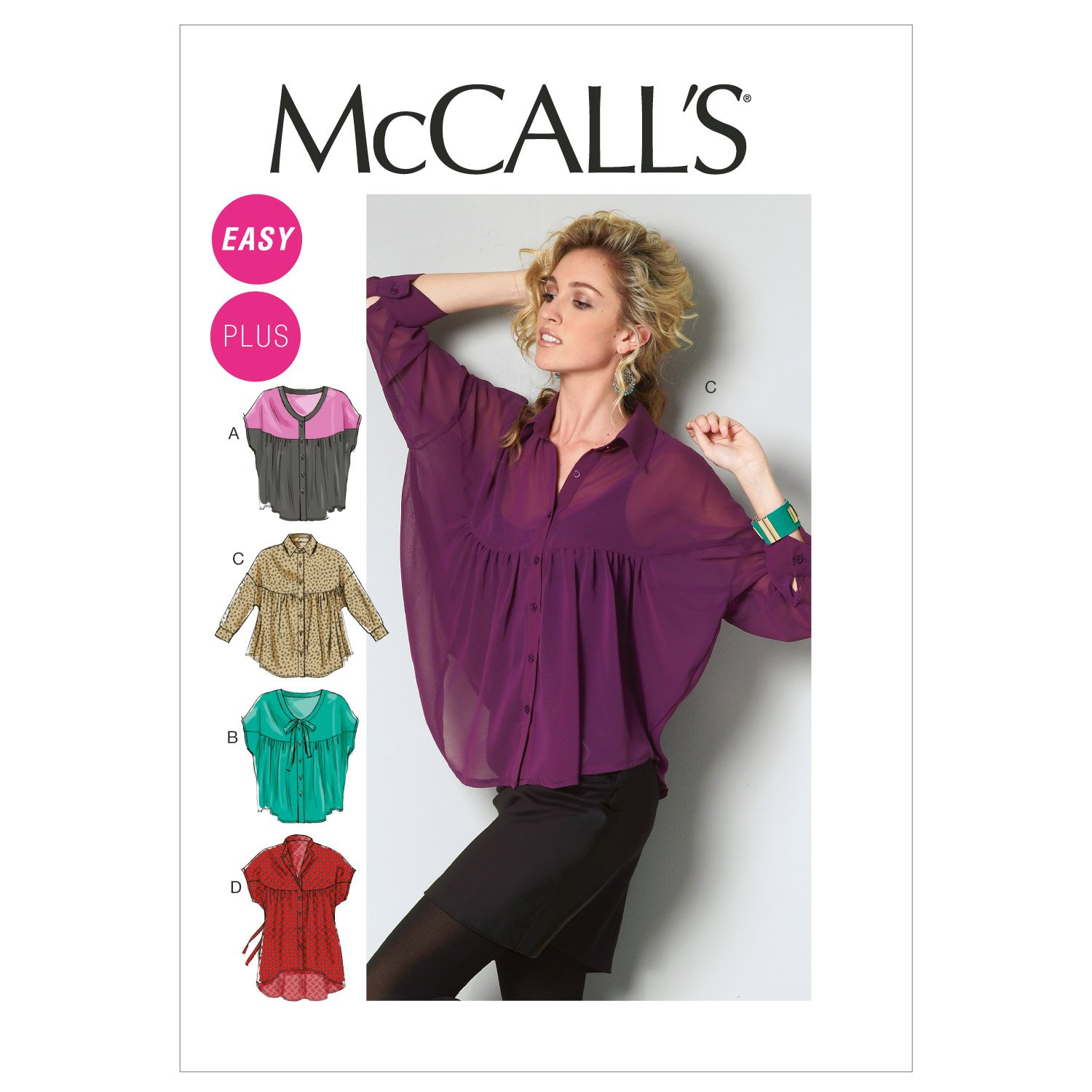 Amazon.com: McCall Patterns M6605B50 Misses\'/Women\'s Tops and Tunic ...