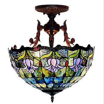 Creativas manchadas lámparas de techo de cristal de la ...