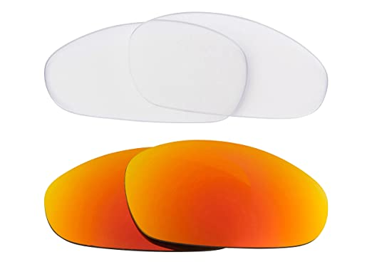 d2bce4144c1bb Best SEEK Replacement Lenses for Oakley Sunglasses JULIET Clear Yellow  Mirror  Amazon.co.uk  Clothing