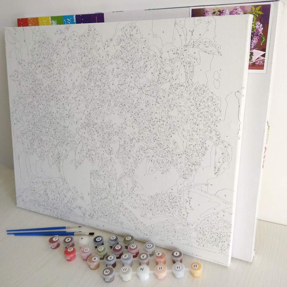 Malen nach Zahlen arbeitet Färbung nach Zahlen Bunte Bunte Bunte Baum Home Decor Leinwand Malen nach Zahlen Modulare Bilder mit gerahmten 40x50cm B07PMV2L86 | Verrückter Preis  b2fc19