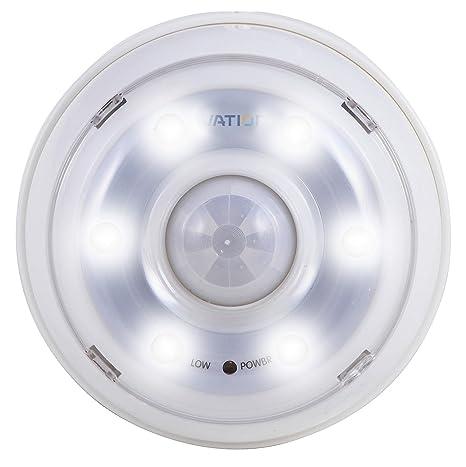 Luz de noche de 6 LED con detección de movimiento Ivation - Luz de pasillo con batería ...