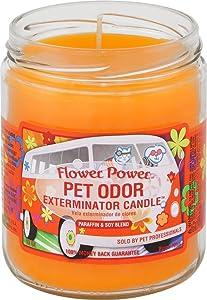 """Flower Power"""" Pet Oder Exterminator Candle 13 oz"""