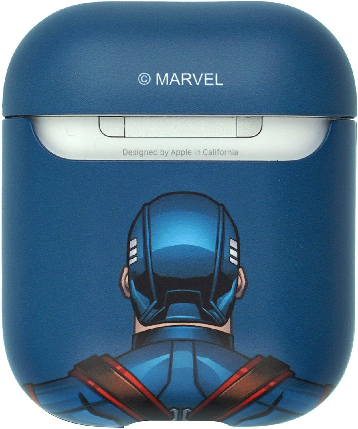Action Iron Man Avengers AirPods Case Protective Hard PC Shell Cute Cover Front LED Visible Accessories Compatible with Apple Airpods 1 /& AirPods 2