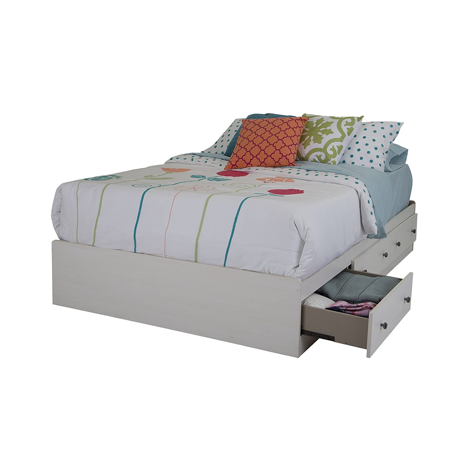 "Amazon.com: south shore 54"" country poetry mates bed with 3 ..."