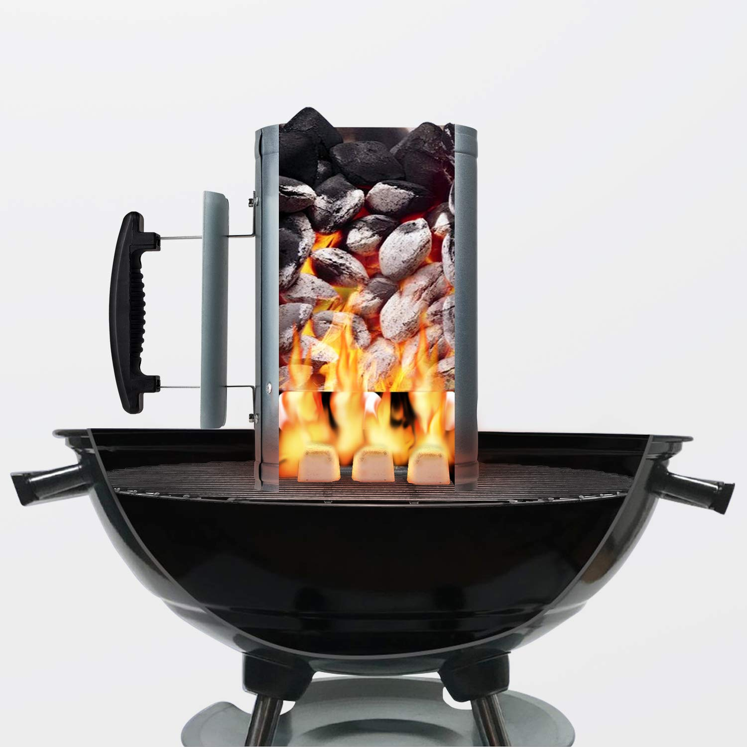 Sougem Charcoal Chimney Starter 11 Quot X 7 Quot To Light All