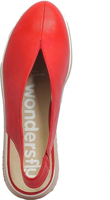Wonders A-33159 Sauvag Rojo Mocas/ín de piel roja con Zeppa Media