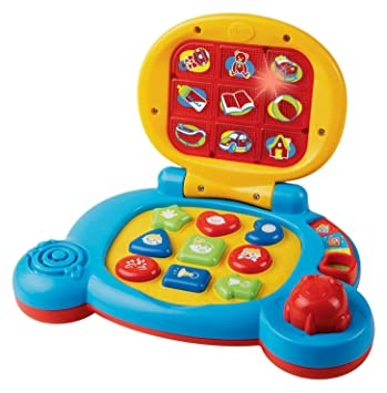 Amazon Com Vtech Baby S Learning Laptop Blue Toys Games
