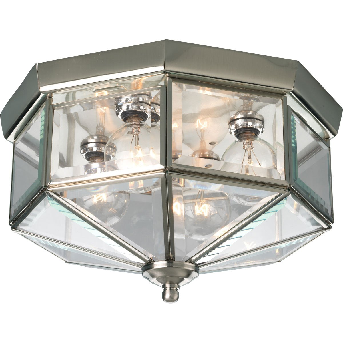 Progress lighting p5789 10 octagonal close to ceiling fixture with progress lighting p5789 10 octagonal close to ceiling fixture with clear bound beveled glass polished brass amazon aloadofball Images