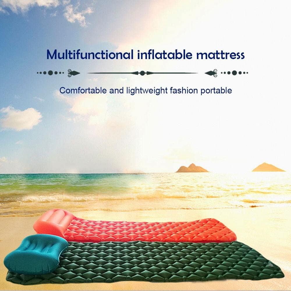 Hiking,Backpacking,Hiking,Scouts,Travel for Camping Aolvo Camping Sleeping Pad Air Mattress Inflating Sleeping Mat Comfortable /& Compact Lightweight Bed