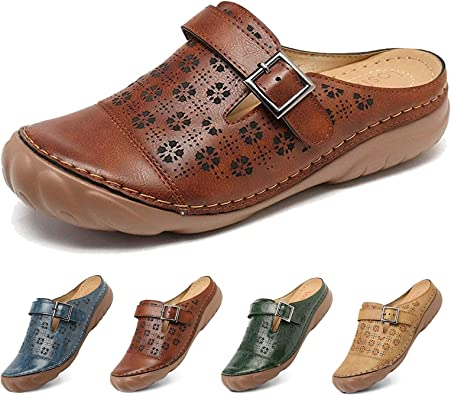 Leather Mules Shoes Ladies Flat Handmade Shoes Women Slipper Leather Clogs