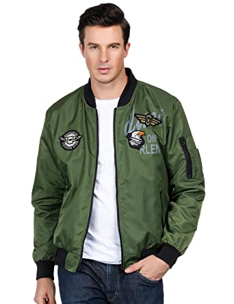 606ed5fc49a6 Men s Stylish Slim Fit Stand Collar Jacket Coat Tops Spring Sale Army Green  S
