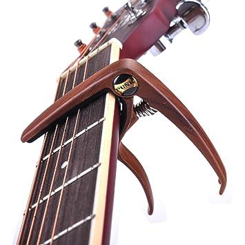 6 cuerdas Guitarra Capo- cejilla perfecto para acústica, eléctrica o Guitarra banjo y ukelele con libre 4 pcs Púas de guitarra: Amazon.es: Instrumentos ...