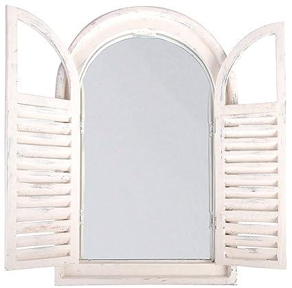 Amazon.com : Esschert Design White Window Frame w/French Doors ...