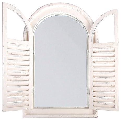 esschert design white window frame wfrench doors - Window Frame Mirror