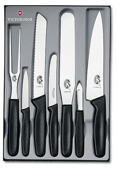 victorinox 5.1103.7 - set di 7 coltelli da cucina professionali ... - Attrezzi Da Cucina Professionali