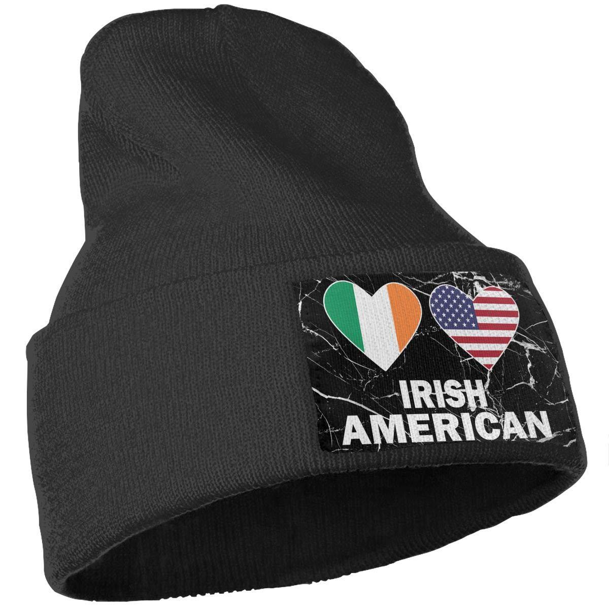 Irish American Hearts Beanie Cap Hat Men /& Women Knit Hats Stretchy /& Soft Beanie