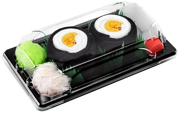 Sushi Socks Box - 1 par de CALCETINES: Maki de Oshinko - REGALO DIVERTIDO, Algodón de alta Calidad|Tamaños 41-46, Certificado de OEKO-TEX, Fabricado en EU: ...