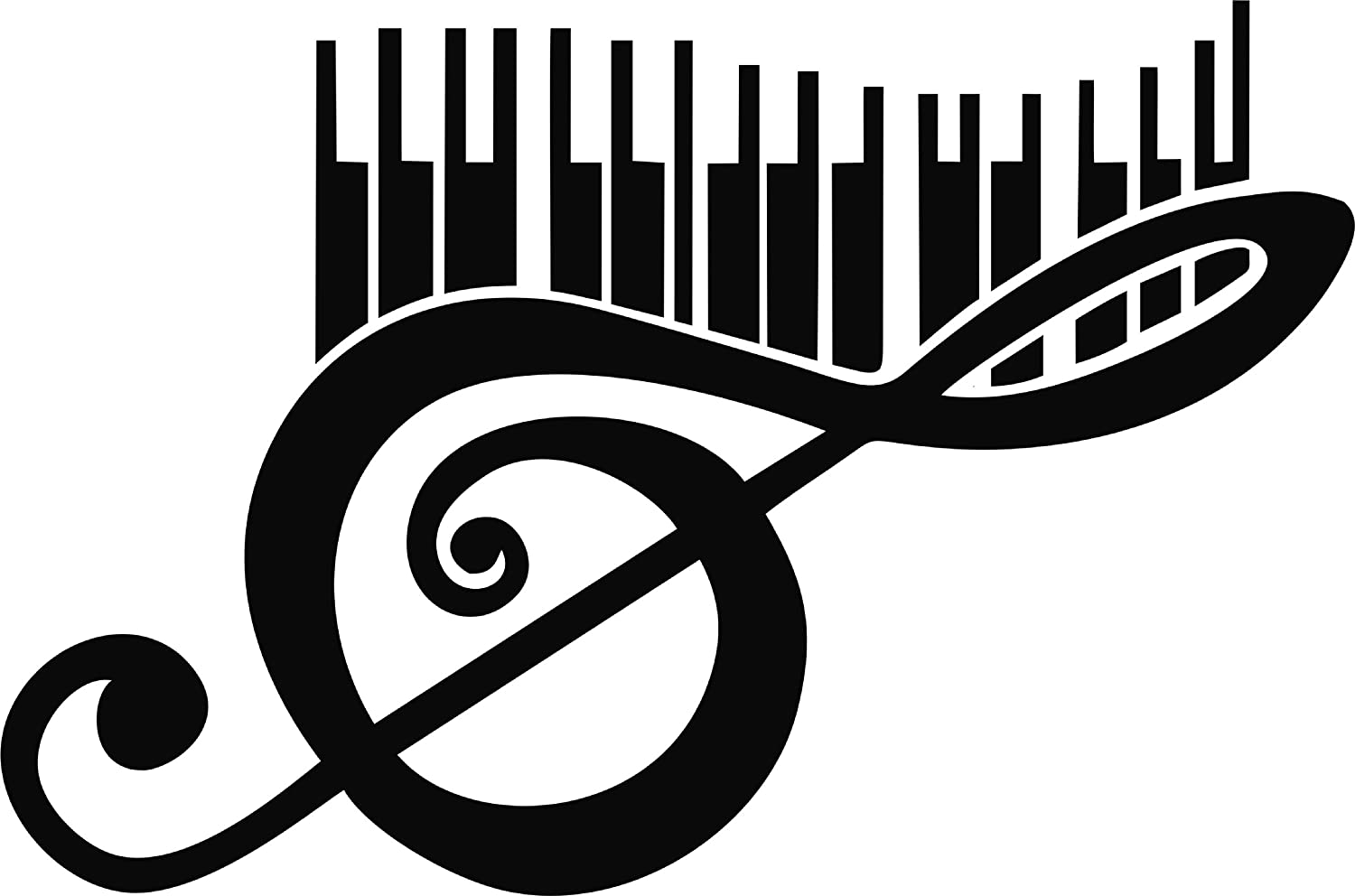 "11 Colors G CLEF Vinyl Decal 3.25/"" x 8/"""