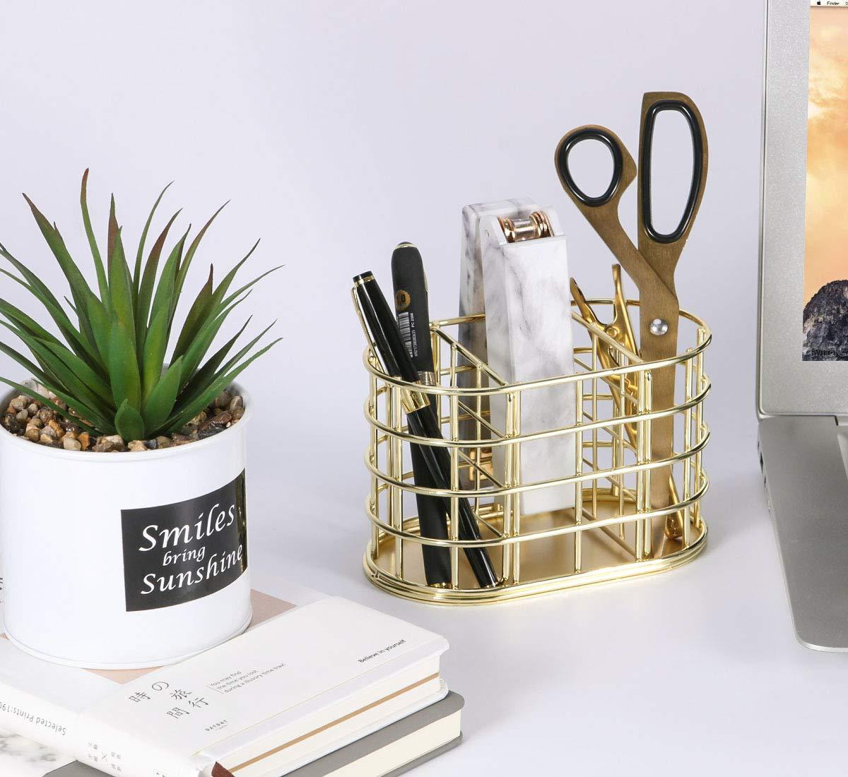 3 F/ächer Metall Stifthalter Schreibwaren Organizer dekorative Schreibtisch-Aufbewahrung Simmer Stone Stiftehalter