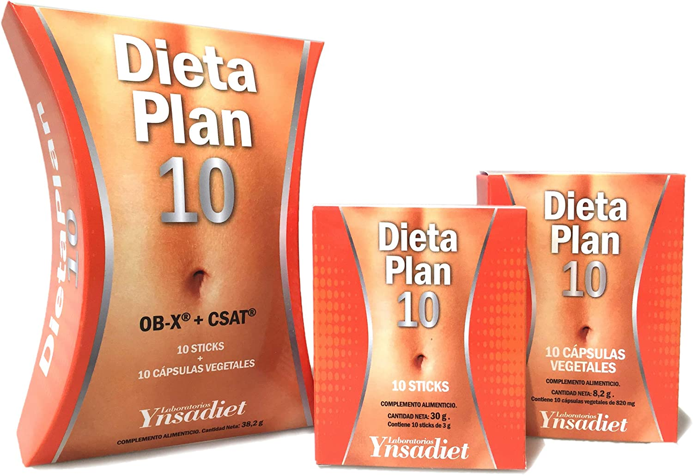 Ynsadiet - Dieta Plan 10 OB-X + CSAT, 10 cápsulas vegetales y 10 ...