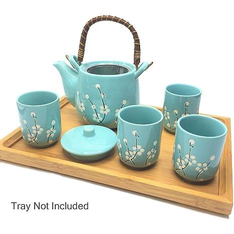 Amazon.com: Juego de tetera y tazas de té de cerámica ...