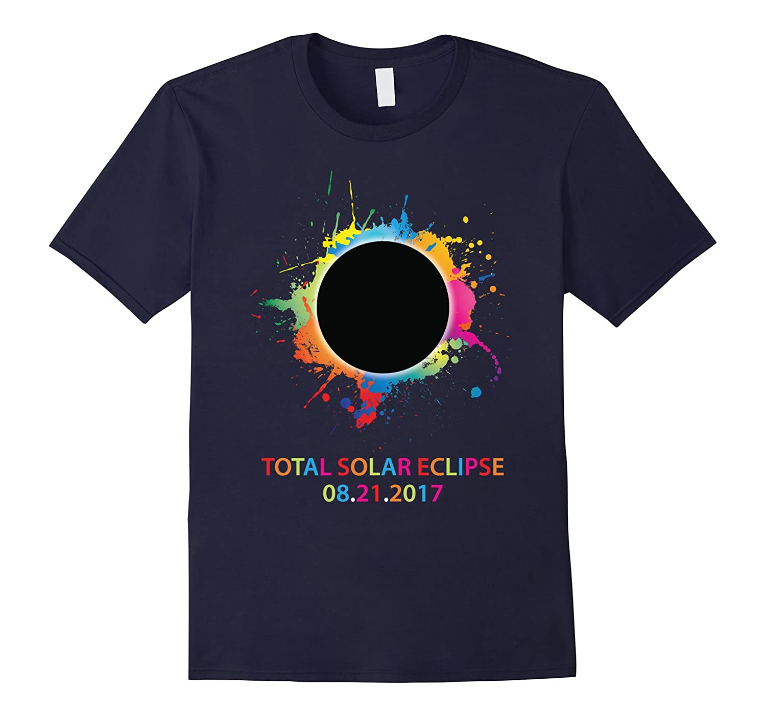 Colorful Rainbow Total Solar Eclipse August 21 2017 T-shirt-BN