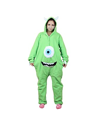 Rnmomo Unisex-adult Kigurumi Onesie Monsters Mike Pajamas (S: 155 - 162cm (