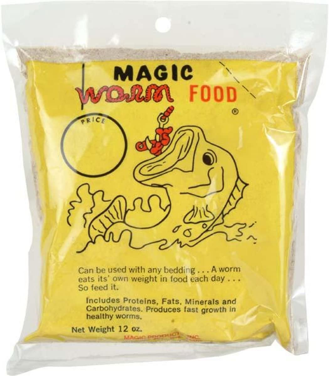 Magic Products Worm Food Fishing Bait, 12-Ounce, Brown