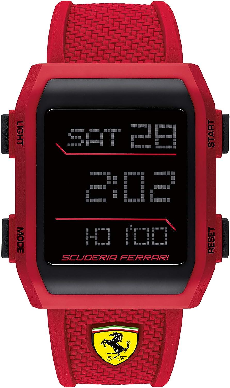 Scuderia Ferrari Quartz Watch With Silicone Strap 830740 Amazon De Uhren
