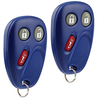 Key Fob Keyless Entry Remote fits Chevy Tahoe Suburban Silverado Avalanche Equinox SSR / GMC Sierra Yukon / Cadillac Escalade / Hummer H2 / Pontiac Torrent / Saturn Vue (LHJ011 Blue), Set of 2: Automotive