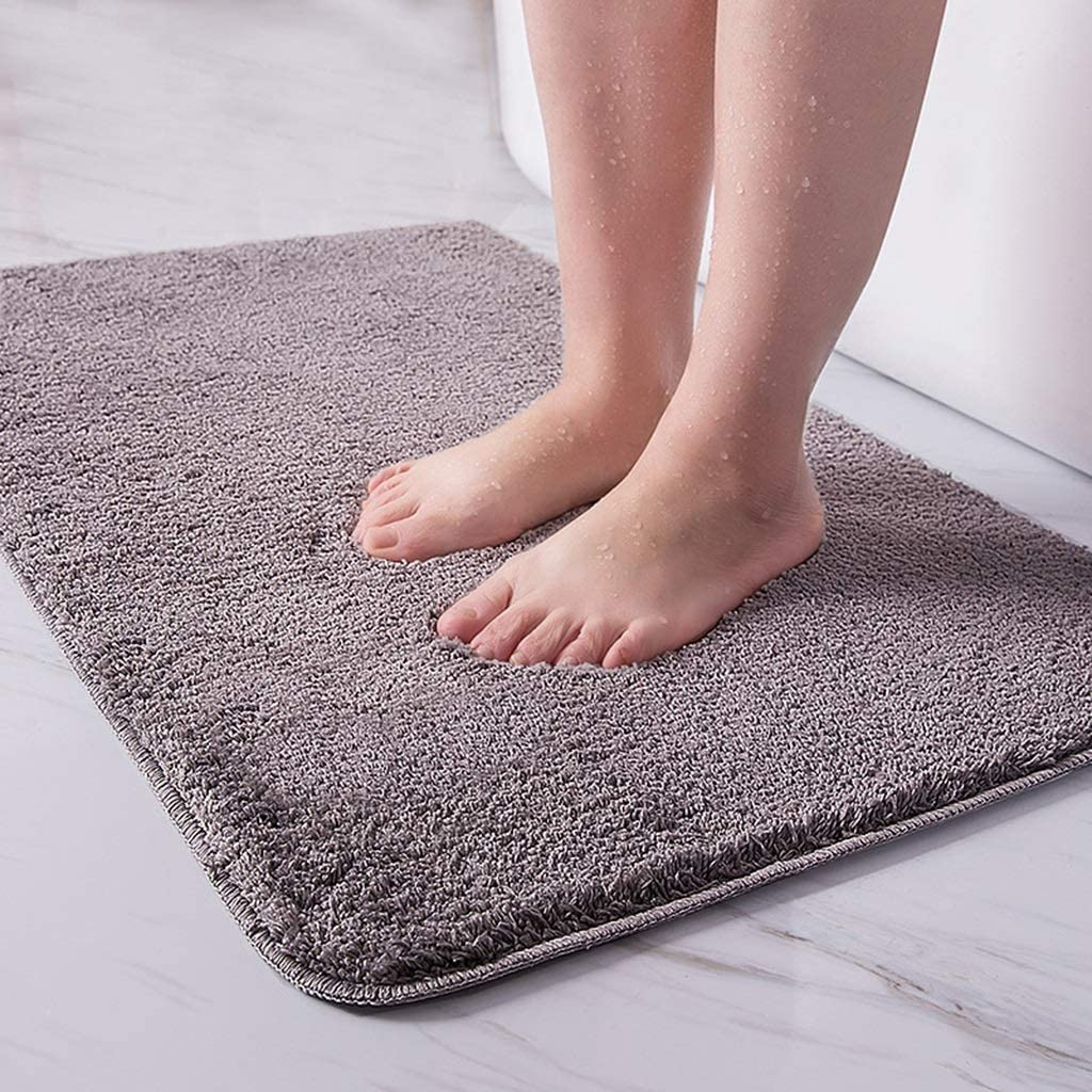CarPet Absorbent Bathroom Anti-Slip Mat Door Mat Mat Home Color : Gray, Size : 5080cm