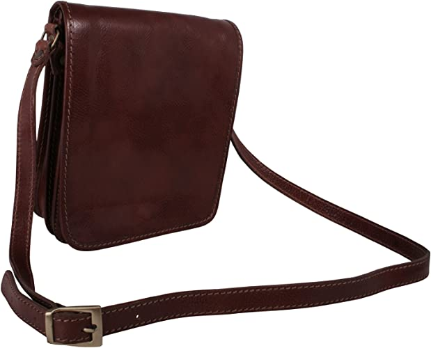 Giglio Ladies Mini Genuine Italian Leather Cross Body Messenger Handbag