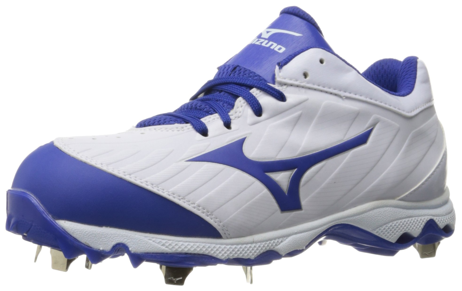 Mizuno Women's 9-Spike Advanced Sweep 3 Softball Shoe, White-Royal, 6.5 D US