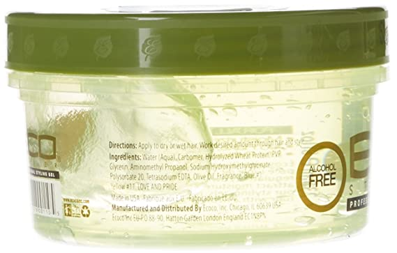 Eco Styler Styling Gel a base de aceite de oliva - Para todo tipo de cabello - Alcohol - 473 ml: Amazon.es: Belleza