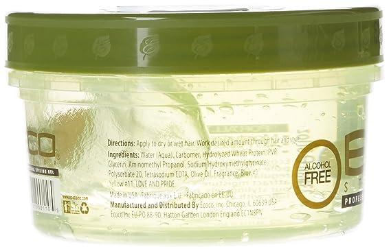 Eco Styler Styling Gel a base de aceite de oliva - Para todo tipo de cabello - Alcohol - 473 ml: Amazon.es: Belleza