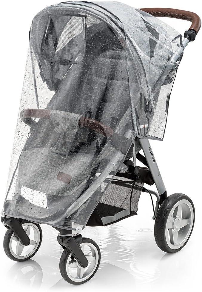 Zamboo - Protector de lluvia Universal para Silla de paseo - Burbuja de lluvia con ventana de contacto, buena circulación del aire, fácil montaje, sin PVC