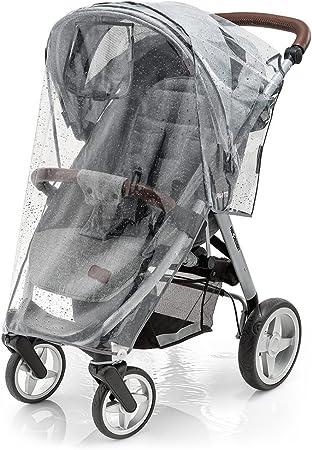 PARA CUALQUIER SILLA DE PASEO: se puede usar en todos los carritos de bebé con capota. El plástico d