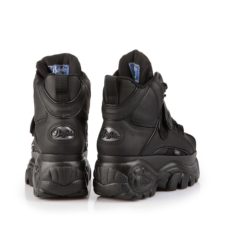 8a486a1efa65 New Buffalo Classic Boots 1348-14 BLACK Platform Shoes   Trainers Sizes UK  3-8 (UK 4