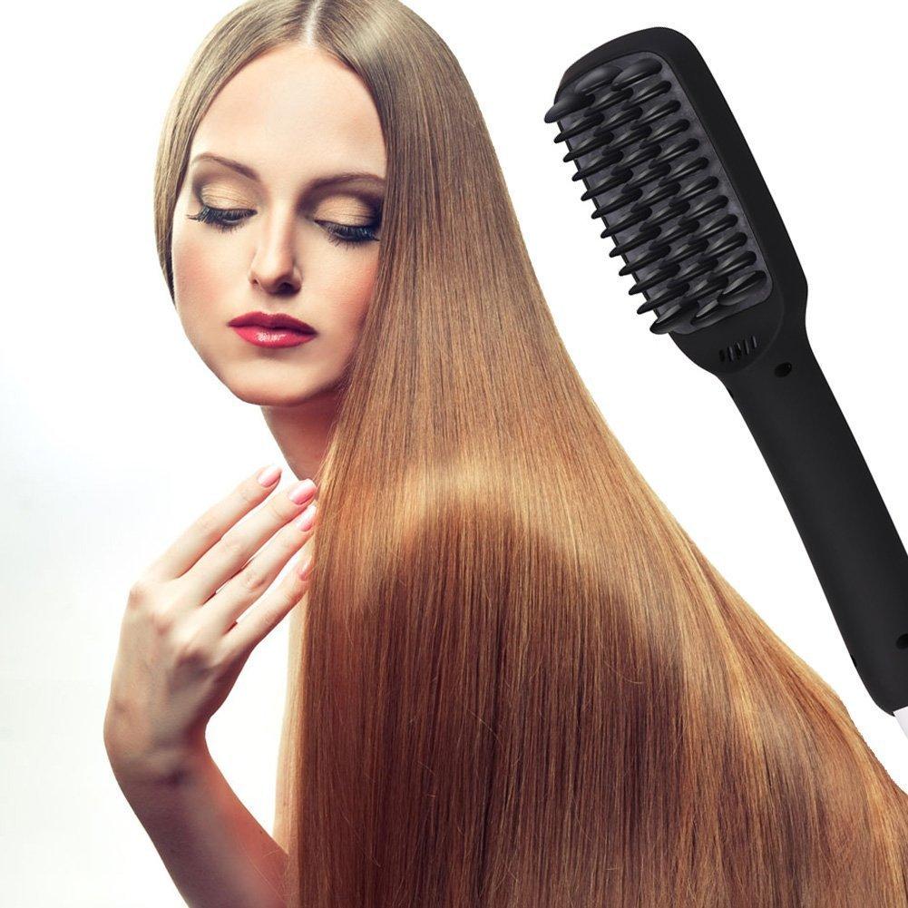 ghb plancha de pelo Hair Brush alisador de cabello Cepillo Cepillo Pelo - Rosa, con enchufe UE: Amazon.es: Salud y cuidado personal
